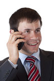 Close-up of a young businessman making a call Stock Photography
