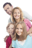 Close up of a young caucasian family together Stock Photography