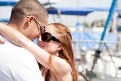 Close up of young couple Stock Images