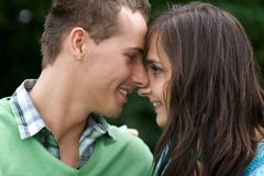 Close-up of young couple Stock Photo