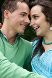 Close-up of young couple looking at each other Stock Photography