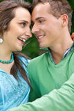 Close-up of young couple looking at each other Royalty Free Stock Images