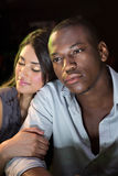 Close-up of young couple sitting together Stock Photo