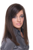 Close up of young emotional business woman Royalty Free Stock Photos