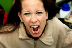 Close up of rage Royalty Free Stock Photo