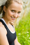 Close-up young fresh woman outdoors Royalty Free Stock Photos