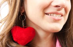 Close up of young girl with heart Stock Photography