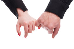 Close-up of young lovers holding hands together Royalty Free Stock Photos