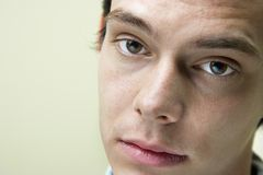 Close up of young man stock photo