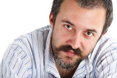 Close-up of young man with beard royalty free stock image