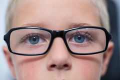 Close-up of young patient eyes. In ophthalmology clinic Stock Images
