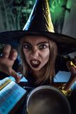 Young Witch Sends Evil Makes Stock Photo