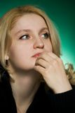 Close-up of young woman . Royalty Free Stock Photo