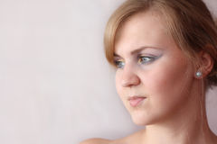 Close-up of a young woman Royalty Free Stock Image
