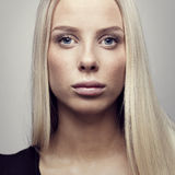 Close-up of a young woman with blonde hair Royalty Free Stock Photo