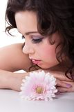 Young Woman With Daisy Flower In Hair Stock Image