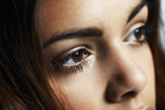 Close up of young woman's eyes Royalty Free Stock Photos