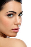 Close-up of young woman's face Royalty Free Stock Image
