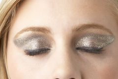 Close Up Of Young Woman Wearing Make Up Royalty Free Stock Image