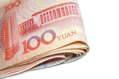 Close up 100 Yuan bill Royalty Free Stock Photo