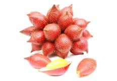 Close up zalacca fruit on white background. Close up delicious zalacca fruit on white background Royalty Free Stock Image