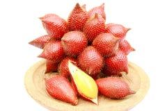 Close up zalacca fruit on white background. Close up sweet zalacca fruit on white background Stock Photography