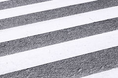 Close-up Zebra Pedestrian Crossing Stock Photo