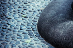 Close up of zen-like boulder Royalty Free Stock Images