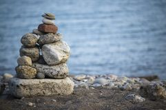 Close up of  zen-like rock formation Royalty Free Stock Images