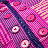 Close up zipper and button Royalty Free Stock Photography