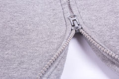 Close up of Zipper  partly open Royalty Free Stock Photography