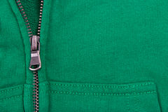 Close up of Zipper  partly open Royalty Free Stock Image