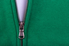 Close up of Zipper  partly open Royalty Free Stock Photos