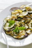 Close-up of zucchini antipasti Royalty Free Stock Photography