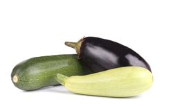Close up of zucchini and eggplant. Stock Photography