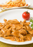 Close up of Zurich ragout Royalty Free Stock Photography