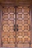 Close-upbeeld van oude deuren stock fotografie