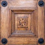 Close-upbeeld van oude deuren royalty-vrije stock foto's
