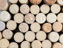 Close-upbovenkant van natuurlijke wijncork van hierboven royalty-vrije stock foto's