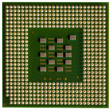 Close-upcpu computer op witte achtergrond Royalty-vrije Stock Foto's