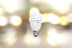 Close-upenergie - besparingslamp stock fotografie