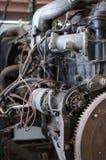 Close-upfoto van een schoon motorblok Stock Foto