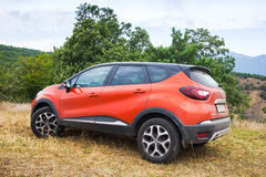 Close-upfoto van Renault Kaptur-auto royalty-vrije stock foto