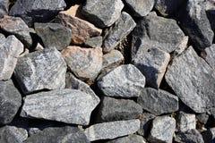 Close-upfoto van Veelvoudig Grey Rocks stock foto's