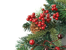Close-upfragment van Kerstmiskroon Stock Fotografie