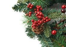 Close-upfragment van Kerstmiskroon Stock Afbeeldingen