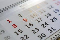 Close-upkalender concept de planning, telt de dagen, tijdbeheer royalty-vrije stock foto