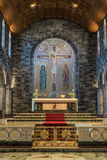 Close-upkoor en achtergrond onder koepel van de Kathedraal van Galway, Ire stock foto's