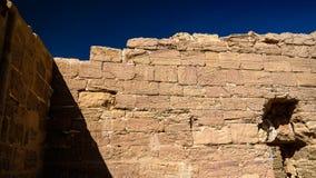 Close-upmening aan Ruïnes van de het koptische klooster en tempel van Deir Al Kashef bij Kharga-oase, Egypte royalty-vrije stock afbeelding