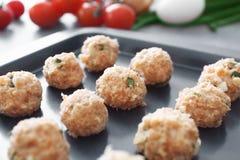 Close-upmening van de heerlijke vleesballetjes van Turkije Stock Foto